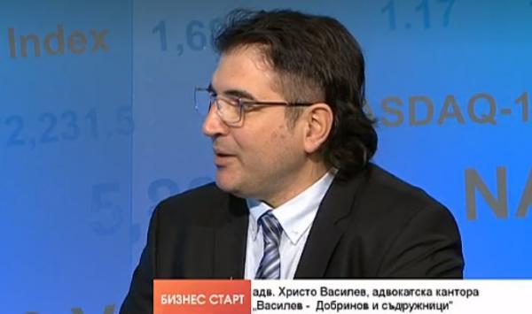 Адвокат Христо Василев пред тв Блумбърг